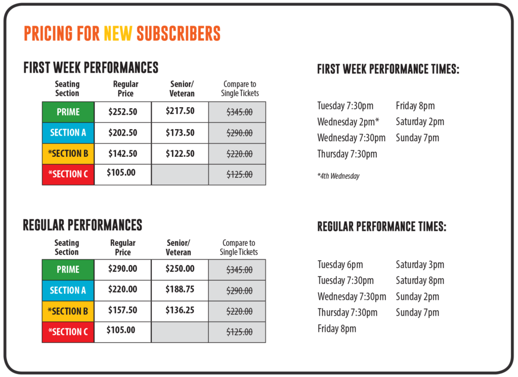 Pricing for New Subscribers