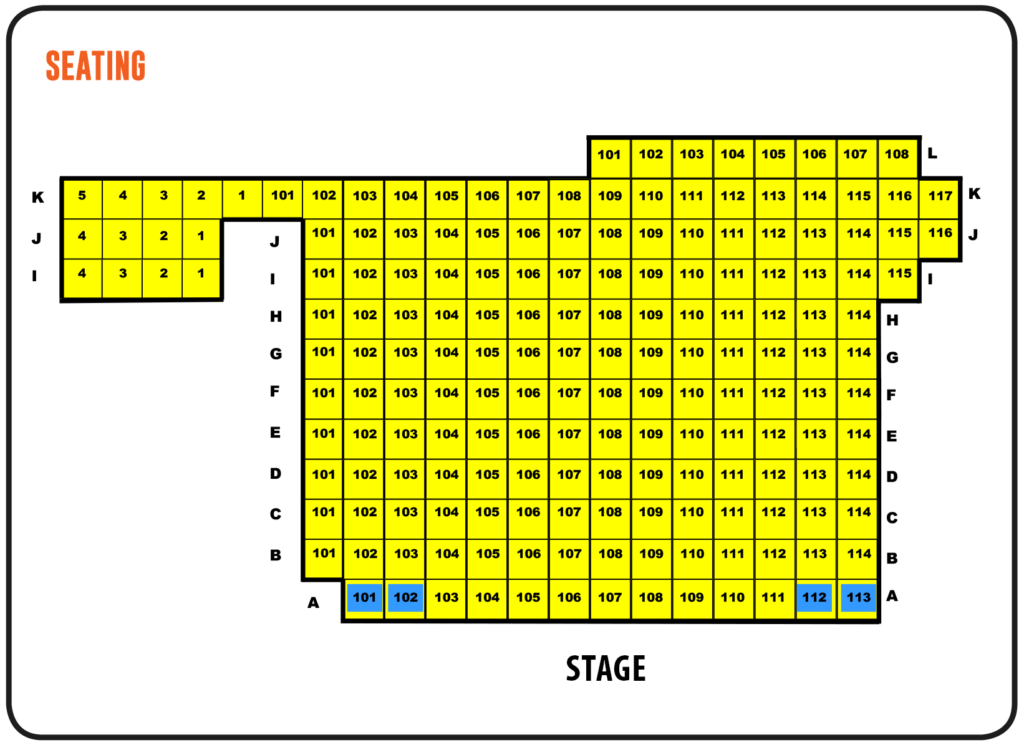 Fielding Stage Seating Chart